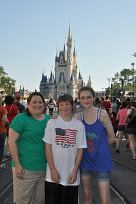 Aunt KK with Christopher and Sydney at Magic Kingdom on 27 May 2012