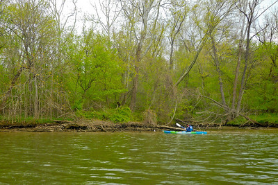 Christopher kayaking on the Potomac River (Image taken by Patrick R. Kane on 04 Apr 2012 with COOLPIX S570 at ISO 80, f2.7, 1/250 sec and 5mm)