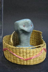 'Reckless Cobra,' a soapstone carving created by Sydney Kane. The carving won Honorable Mention in the Regional Scholastic Art Competition hosted by the Arlington Central Library and encompassing all Middle School and High School students in Arlington County. Almost 2,000 works of art were submitted and judged by three jurors. Out of these, the judges chose 376 to be awarded either a Gold or Silver Certificate. The awards ceremony was held at Washington-Lee High School. (Image taken by Eric Skrzypek, Williamsburg M.S. Art Teacher)