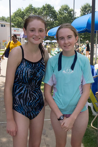 Sydney and Addie at Great Waves Waterpark (28 Aug 2012)