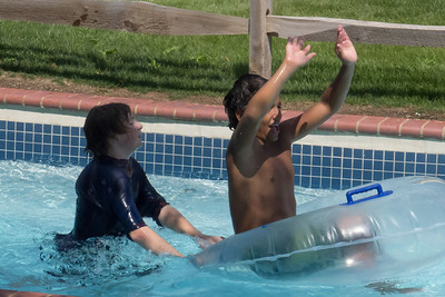 Christopher and Marc in the lazy river at Great Waves Waterpark (28 Aug 2012)