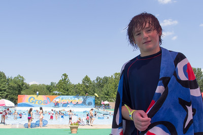 Christopher enjoying the day at Great Waves Waterpark (16 Aug 2012)