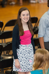 Sydney's friend, Kathleen. 8th Grade Promotion at Williamsburg Middle School (Image taken by Patrick R. Kane on 21 Jun 2012 with Canon EOS 5D at ISO 400, f2.8, 1/100 sec and 182mm)