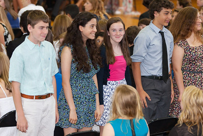 Sydney's friend, Kathleen (in the middle). 8th Grade Promotion at Williamsburg Middle School (Image taken by Patrick R. Kane on 21 Jun 2012 with Canon EOS 5D at ISO 400, f2.8, 1/125 sec and 130mm)
