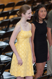 Sydney's friend, Anna. 8th Grade Promotion at Williamsburg Middle School (Image taken by Patrick R. Kane on 21 Jun 2012 with Canon EOS 5D at ISO 400, f2.8, 1/100 sec and 200mm)
