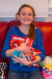 Sydney was loaded up with candy during her 15th Birthday Party (11 Jan 2013)
