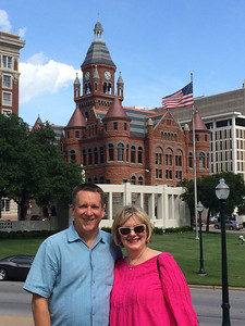Cheryl, KK and Patrick visited The Sixth Floor Museum at Dealey Plaza in Dallas, Texas, on the way to drop Patrick off at DFW airport for his return to Virginia. None of us had been there before, so it was a good stop and we all learned a lot about John F. Kennedy's assassination. (Image taken by Kathy L. Kane on 07 Jul 2014)