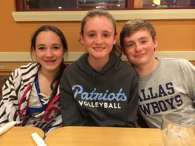 Rachel, Sydney and Christopher at IHOP.