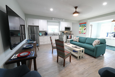 Apartment living and dining area