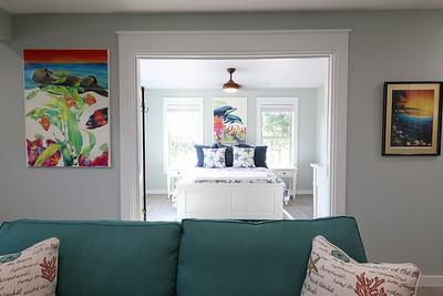 Apartment front bedroom with pocket doors