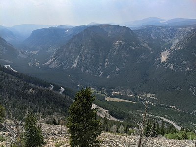 View from Rock Creek Vista (9,190-ft elevation) on Beartooth Highway (US 212), outside of Red Lodge, Montana