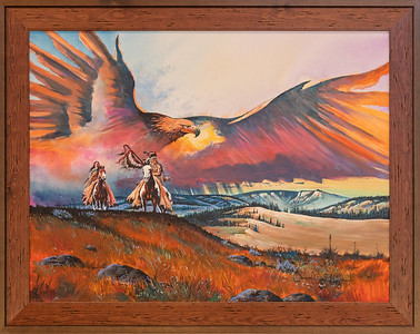 """Mother Earth's Sentinel,"" by Daniel Long Soldier, Oglala Lakota, Acrylic on Canvas. Crazy Horse Memorial, Crazy Horse, South Dakota"