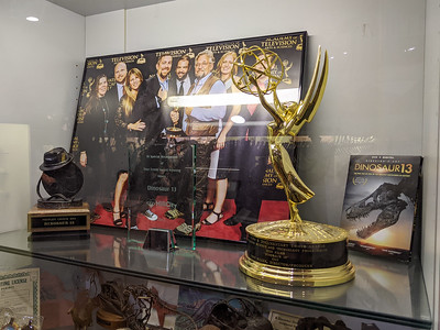 An Emmy and Black Hills Film Festival People's Choice Award for Dinosaur 13 at Black Hills Institute, Hill City, South Dakota