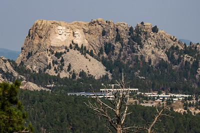 A view of Mount Rushmore from Norbeck Overlook off of US-16A, Iron Mountain Road, Keystone, South Dakota