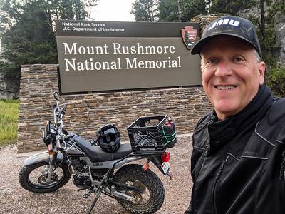 Patrick Kane at the entrance to Mount Rushmore, Keystone, South Dakota
