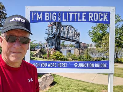A lot of people were outside enjoying the city park next to Little Rock River Market, Little Rock, Arkansas
