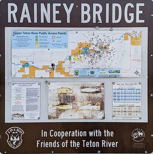 Rainey Bridge, in the area known as The Big Eddy, was our take-out point. A float along the Teton River was one of the planned outings during the Xscapers Grand Teton Convergence, Driggs, Idaho.