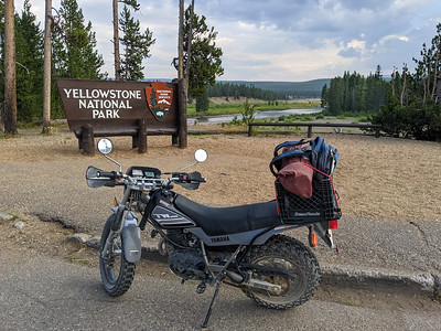 South entrance to Yellowstone National Park, Wyoming