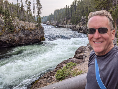 Grand Canyon Brink of Upper Falls, Yellowstone National Park, Wyoming
