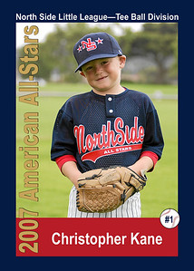 #01 Christopher Kane. North Side American, 2007 Little League All-Stars, Tee Ball Division