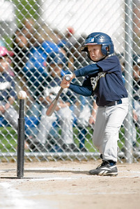 #08 Christopher Kane at bat. Brewers vs. Red Sox, 2007 North Side Little League Baseball, Tee Ball Division