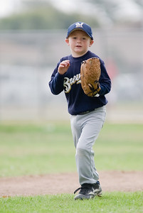 #08 Christopher Kane at short stop. Brewers vs. Red Sox, 2007 North Side Little League Baseball, Tee Ball Division