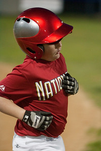 Christopher hits a single and gets a RBI to put the team in the lead 1-0. The Nationals came up a little short in an exciting finish and were outscored by the Brewers 6-8. They are now 1-1 for the season. 2010 Arlington Little League Baseball, Majors Division. Nationals vs Brewers (14 Apr 2010) (Image taken by Patrick R. Kane on 14 Apr 2010 with Canon EOS-1D Mark II at ISO 1600, f2.8, 1/250 sec and 153mm)