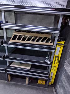 Rear shelves on passenger's side