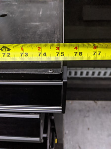 Length of benchtop on driver's side