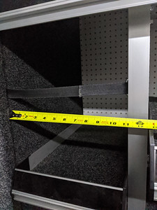 Rear shelves on driver's side