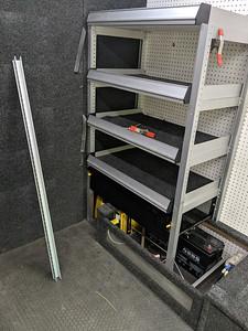 """New """"garage"""" shelves"""