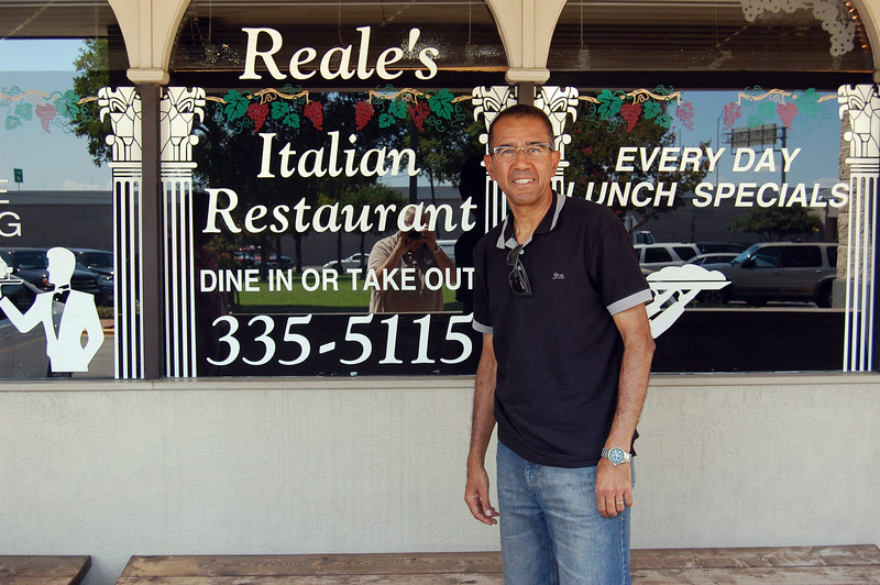 Lu's second lunch with Patricia's Austin family; Reale's is one of our favorite places.