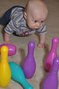 Baby bowling: Here I come