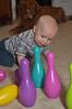 Baby bowling: Oh yeah!  But I'm not done.