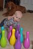 Baby bowling: A-A-A-A-R-R-R-R