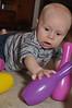 Baby bowling: Down, down, down!