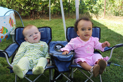 Esther and Albert share their lawn chair