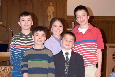 Pat is Grade 2, Nick is Grade 4, Carolyn is Grade 6, Matt is Grade 8 and Will is in Grade 9