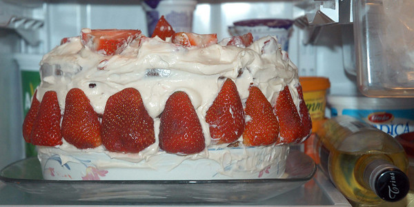 Paddy's Very Special Triple Layer Strawberry Cake for Mom