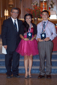 Patrick and Leanne with the St. Marys Crusader Award