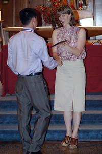 Patrick receiving his Science Award