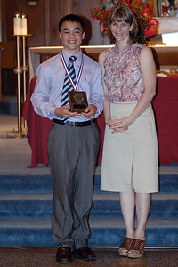 Patrick with his Science Award