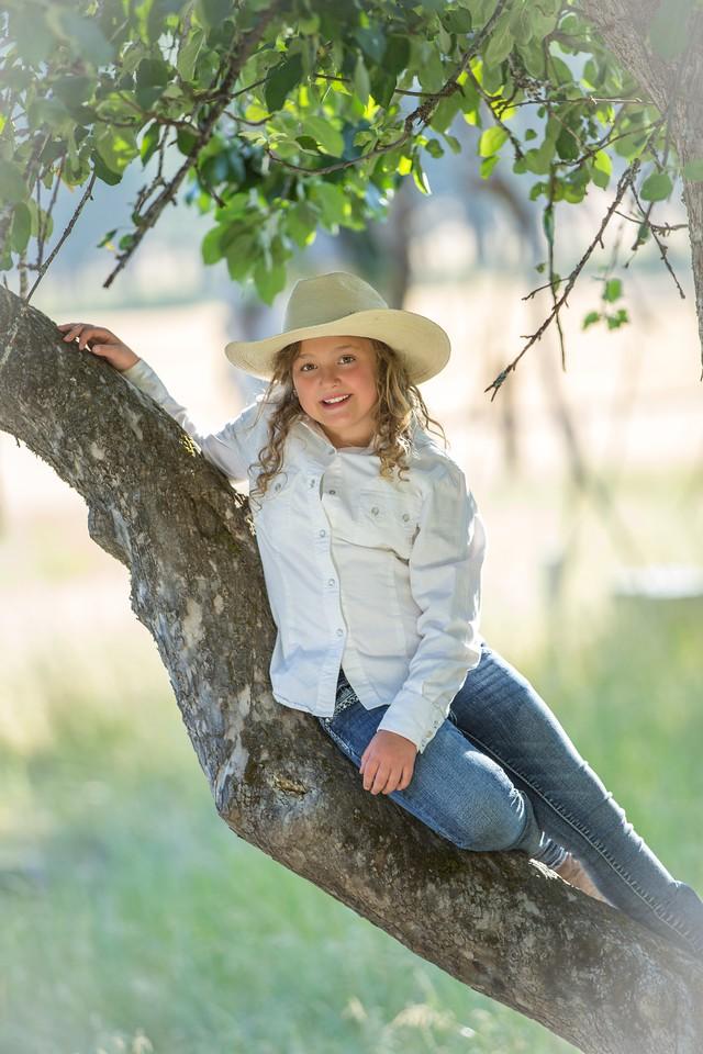 Ariel in the apple tree