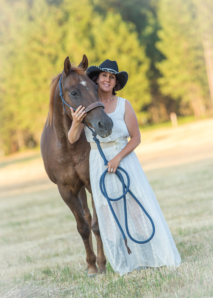 Patti with her horse