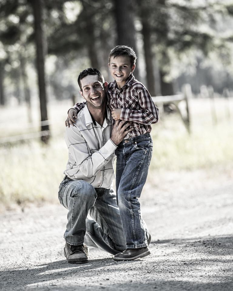 father son shot