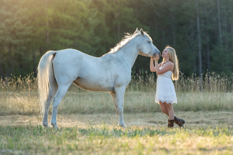 Our princess with the white horse shot