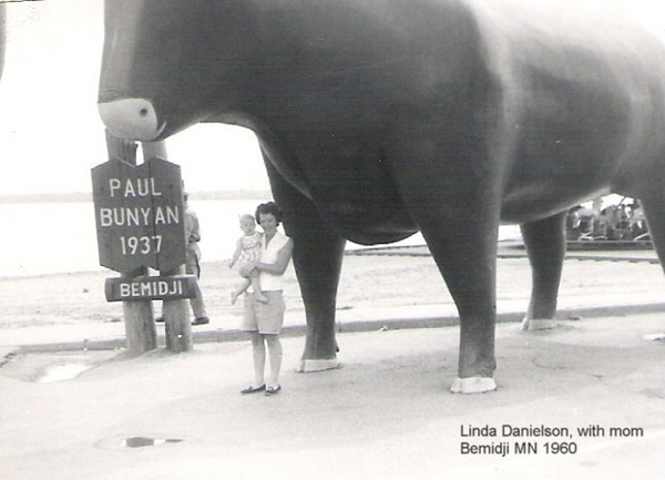 Linda and Mom<br /> Paul Bunyan, Bemidji MN<br /> ~1960~
