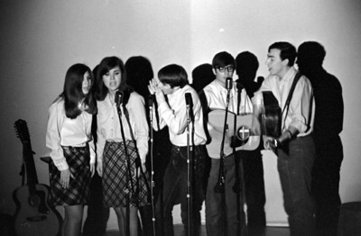 Paul and Jane and friends, about 1970