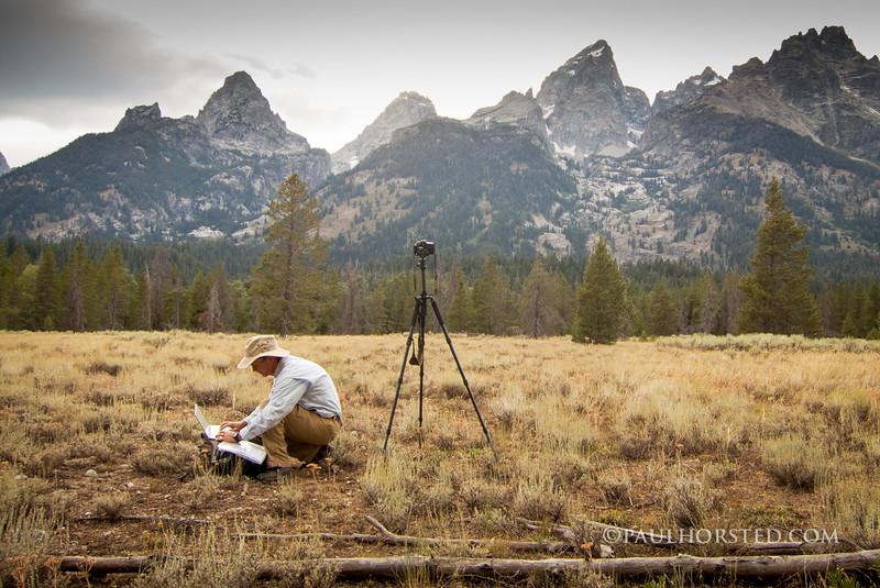 Paul at William Henry Jackson photo site, Grand Teton National Park.