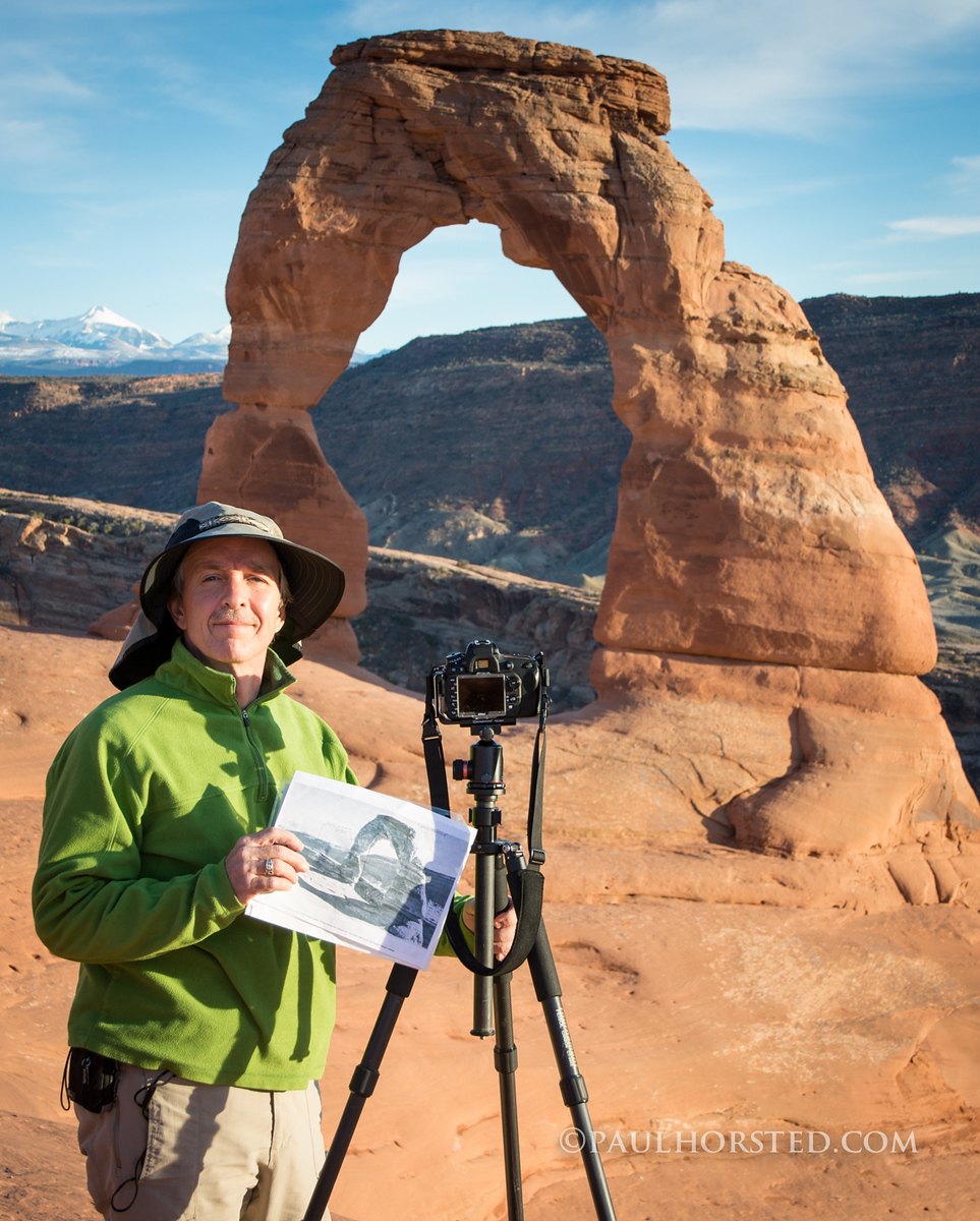 Paul at Delicate Arch, Arches National Park.